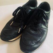 Michael Kors Womens Designer Allie Sneakers UK6 Black Leather