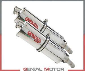 2 Exhaust Mufflers GPR TRIOVAL Approved MOTO GUZZI BREVA 750 2003 > 2009