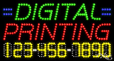 """New """"Digital Printing"""" 32x17 w/Your Phone Number Solid/Animated Led Sign 25063"""