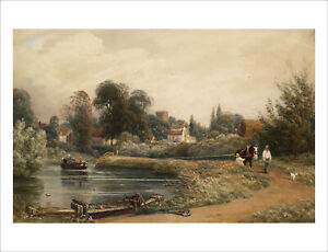 Turner - View of Iffley from the River 1841 fine art print poster various sizes