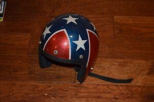 vintage stars/bars metalflake motorcycle helmet