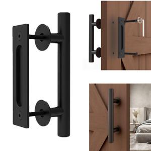"9.4""/12"" Sliding Barn Door Pull Handle Heavy Duty Gate Handle Flush Hardware 1PC"