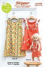SKIPPER Girls & Doll Dress, Tunic, Leggings Pattern Sizes 2-8 Olive Ann Designs