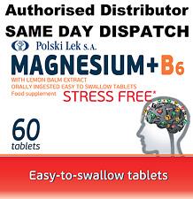 Magnesio B6 60 tabletas libre de estrés magnez B6 Antiestrés (Polski Lek)