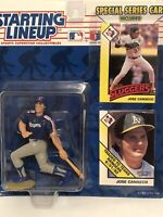 1993 starting lineup Jose Canseco Baseball figure card toy Texas Rangers A's MLB