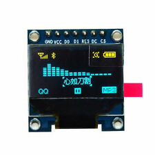 "Yellow Blue 128X64 OLED LCD LED Display Module Arduino 0.96"" I2C IIC CHIP 163 A"