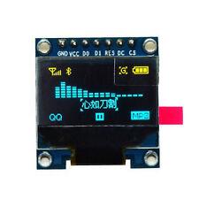 "GIALLO Blu 128X64 OLED LCD Modulo Display a LED 0.96"" I2C IIC Arduino Chip 163 a"