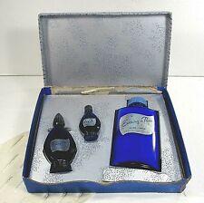 EVENING IN PARIS BOURJIOS box set 3 full talc cologne perfume blue bottle ʱ t3