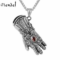 MENDEL Marvel Infinity Gauntlet Glove Pendant Necklace Stainless Steel Jewelry