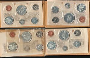 Canada Lot of 4 Mint Sets 1963, 1964, 1965(Pointed 5) and 1966 OGP & COA