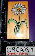 BRUSH DAISY FLOWER RUBBER STAMP PENNY BLACK 2101K RETIRED