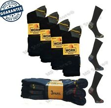 1 - 15 Pairs Mens Ultimate Work Boot Socks Size 6-11 Cushion Sole Reinforced Toe