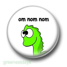 Om Nom Dinosaur 1 Inch / 25mm Pin Button Badge Dinosaurs Rawr Tasty Food T-Rex