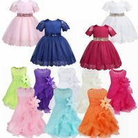 Baby Flower Girl Princess Dress Kids Party Wedding Bridesmaid Tulle Tutu Dresses