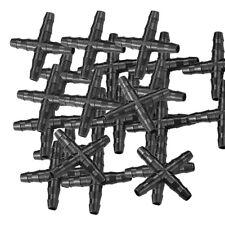 25xMicro Bewässerung Kreuz X Joiner Connector 4mm Hozelock Kompatibel  4/7 mm
