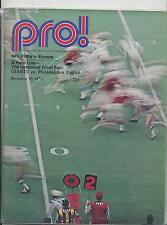 New York Giants Philadelphia Eagles 12/19/71 NFL PRO Game Program