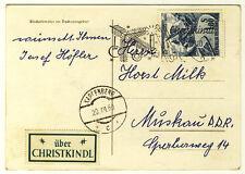 ÖSTERREICH - WEIHNACHTSKARTE aus KARPFENBERG 1960 über CHRISTKINDL in die DDR