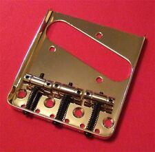 Guitar Parts TELECASTER BRIDGE - Vintage 3 Saddle - Top & Bottom Load - GOLD