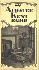 Atwater Kent Radio Vintage Radio Schematics * CDROM * PDF