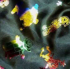 Raso nero con stampa a carattere di Halloween in tessuto (al metro)