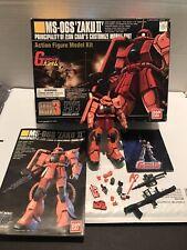 Gundam Mobil Suit HG MS-06S ZAKU 2 100% complete Bandai Skill Level 3 EX Cond