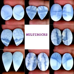 Natural Blue Opal Matched Pair Oval Pear Fancy Cushion Cab Loose Gemstones PK115
