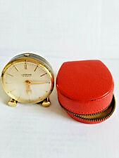 LOOPING 15 Jewels Watch Alarm Travel Clock, 8 Day Work,Switzerland,vintage 1960s