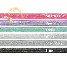 "12 Yard 5/8"" Silver Glitter FOE Fold Over Elastics Spandex Band Lace Sewing Trim"