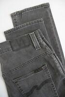 RRP $110 NUDIE THIN FINN POOR BLACK Men's W32/L34 Grey Organic Jeans 4228_mm
