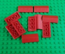 *NEW* Lego Red 2x4x1 Roof Tiles Slope Bricks Houses Buildings - 10 pieces