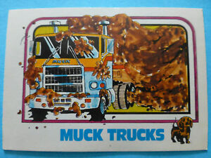original vintage cabover MACK TRUCK 1976 1977 1970s trading card ad part