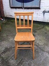More details for solid ash & beach chapel chairs church chairs antique style