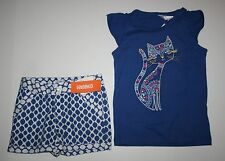 New Gymboree Glam Kitty Tee Top & Cloud Print Shorts Size 5 Desert Dreams Outfit