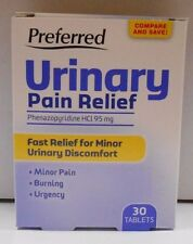 Urinary Pain Relief Phenazopyridine HCL 95mg 30ct Tablets (Compare to AZO)