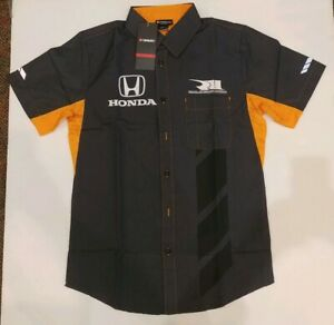 Rahal Letterman Lanigan Honda Racing Mens Paddock Short Sleeve Shirt NWT Size S