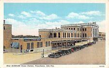 1930's Railway Express Agency & Union RR Station Texarkana TX post card