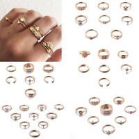 7pcs Frauen Weinlese Midi Finger Ring Set Knuckle Ringe Schmuck Geschenk