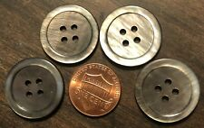 4 25.5mm genuine vintage round real horn buttons4 four holedark