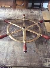 Antique Vintage Bronze Ships Wheel Boat Yacht Sailing Brass Original