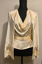 Rety Cream Silk Co-Ord Outfit/Set, Haute Couture, Paris, 80's Size UK 8-10