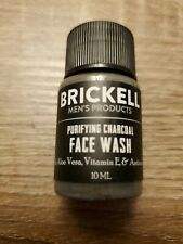 Brickell Men's Purifying Charcoal Face Wash 10 mL Travel Size Mini Sample Sealed
