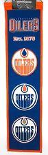 "Edmonton Oilers Wool Heritage Banner NHL Hockey 32"" New Embroidered Team Logo"