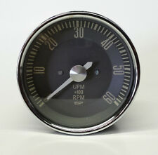 VW TYPE 3 EARLY WHITE NEEDLE FLAT FACE TACHOMETER DASH GAUGE 12 VOLT REV COUNTER