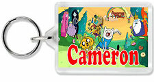 Personalised Adventure Time Keyring/ Bag Tag - Choose any name! *Great Gift!*