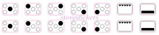 STOVE STICKERS 5 RING HOB COOKER TOP BURNER MARKINGS WITH OVEN  DECALS STICKERS