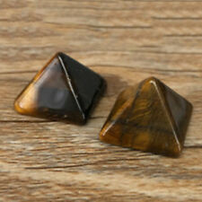 Pyramid Gemstone Natural Stone Crystal Quartz Healing Point Chakra Home Office N