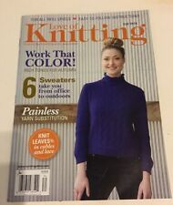 Love of Knitting Magazine Work that Color  Fall 2016