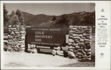 Coloma CA Gold Discovery Site Sutters Mill Sign Real Photo Postcard
