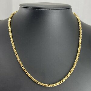 """9ct Gold 16"""" Solid Fancy Link Chain 18.4g"""