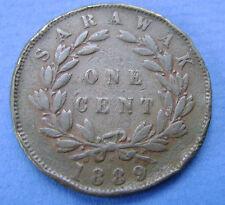 1889 Sarawak - 1 cent one cent 1889 Charles Brooke Rajah Malaysia - KM# 6